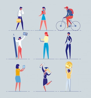Insieme di cittadini urbani di diversa occupazione e genere.