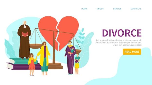 Pagina di destinazione del divorzio