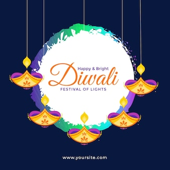 Diwali banner design template