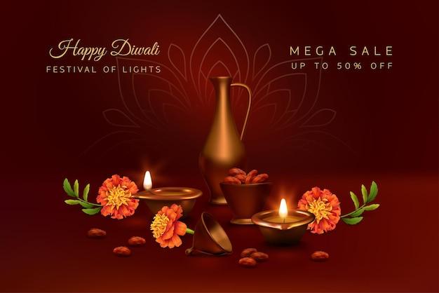 Banner del festival di diwali