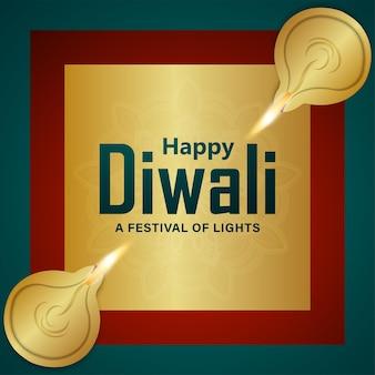 Diwali festival di sfondo celebrazione della luce