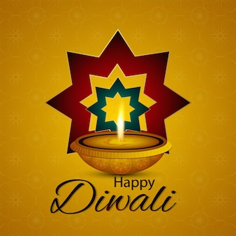 Diwali la festa della celebrazione della luce biglietto di auguri