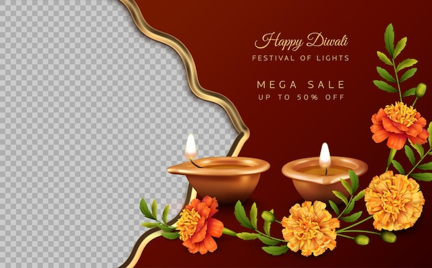 Banner di vendita del festival di diwali