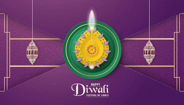 Diwali è il festival delle luci di indù, indiano.