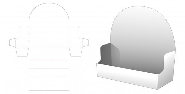 Modello fustellato di visualizzazione del prodotto ondulato fai-da-te
