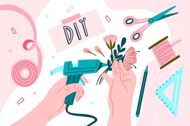 Concetto di laboratorio creativo fai da te