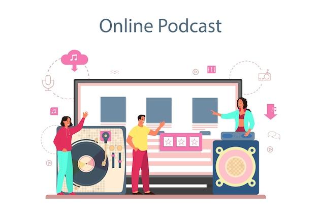 Piattaforma o servizio online di concetto di dj