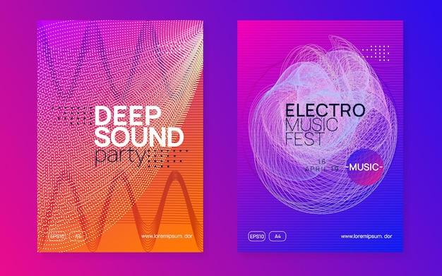 Evento dj. set di poster per concerti ondulati