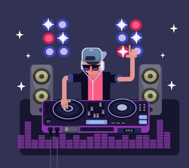 Illustrazione del dj