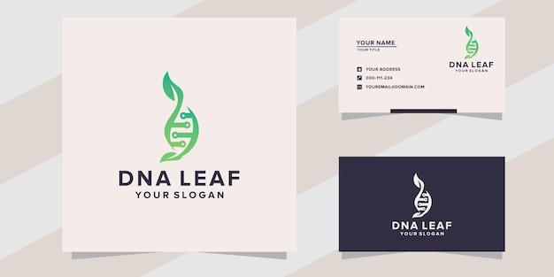 Modello di logo foglia di dna