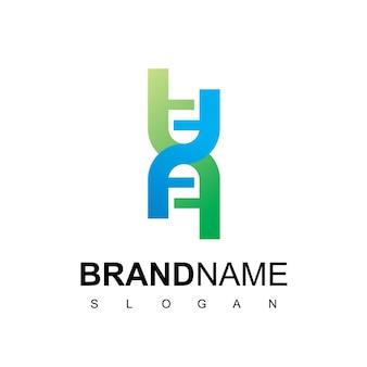 Ispirazione per il design del logo del dna