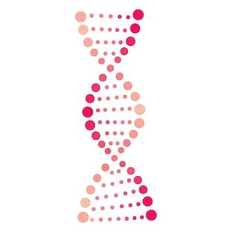 Segno della molecola del dna, elemento genetico