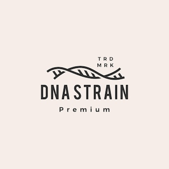 Logo vintage di dna strain helix hipster
