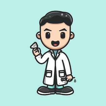 Medico che controlla la temperatura del corpo prima del vaccino