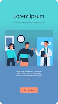 Medico che cura i pazienti con influenza