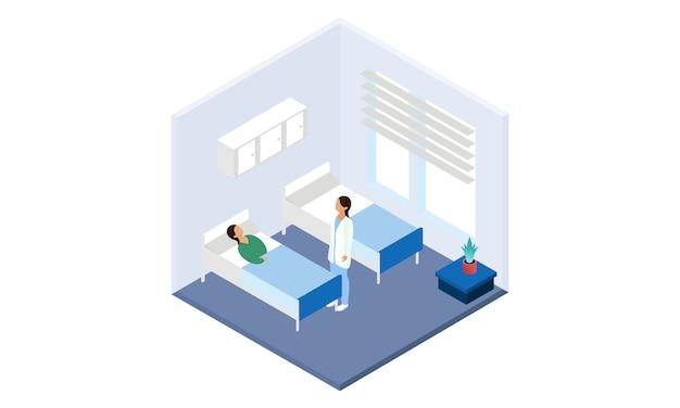Controllo medico di medico su per l'illustrazione di sanità