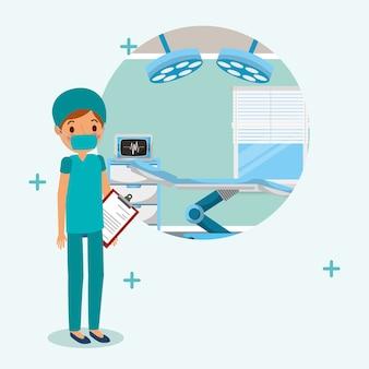 Medico medico in uniforme chirurgica