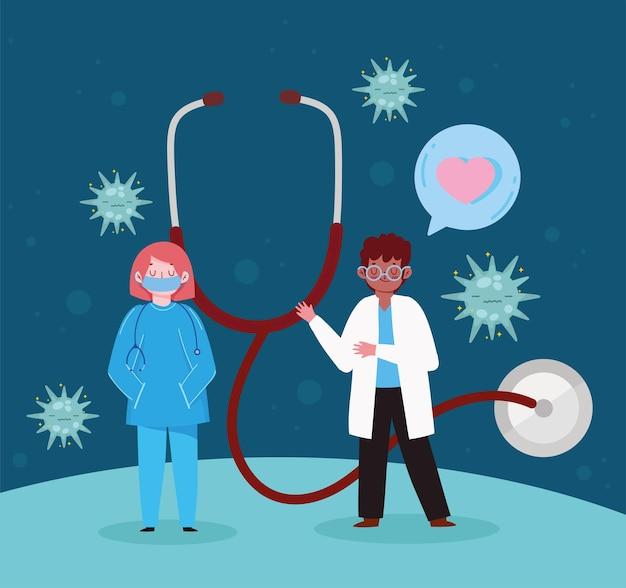 Medico e infermiere medico