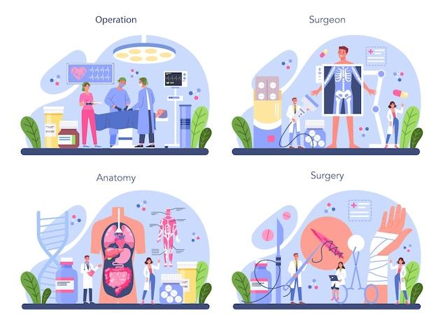 Medico che esegue operazioni mediche