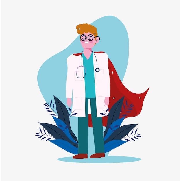 Medico supereroe professionale