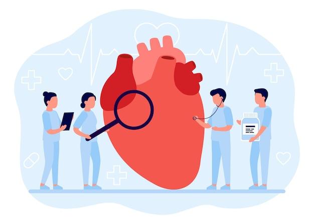 I medici controllano la salute dell'organo cardiaco esame medico del cuore