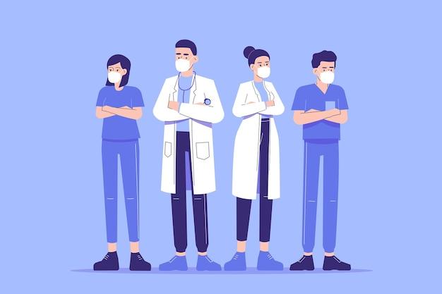 Set di caratteri del personale medico e del personale medico