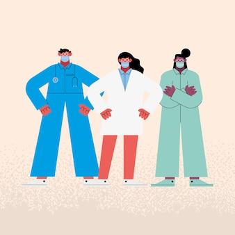 Squadra del personale dei medici