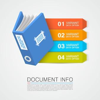 Colore del nastro artistico delle informazioni sul documento. illustrazione vettoriale