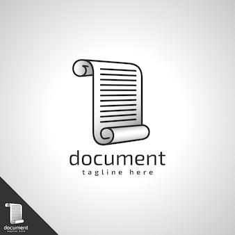 Modello di logo di documento / lettera