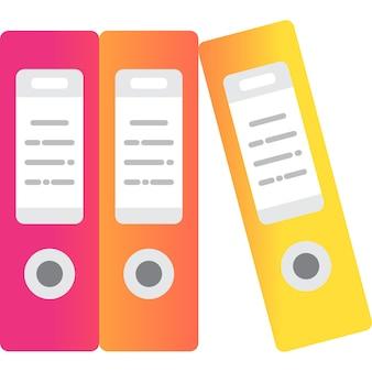 Documento ufficio cartella documenti icona vettore piatto