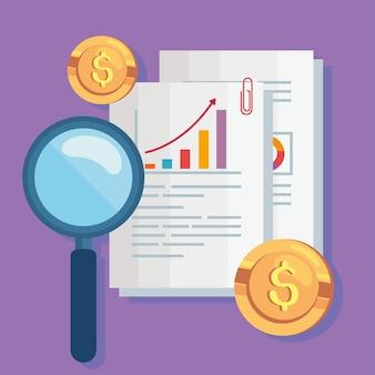 Documenti e icone finanziarie
