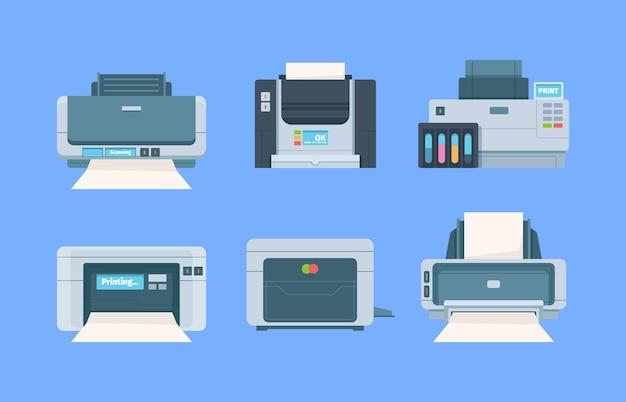 Set di documenti e stampanti