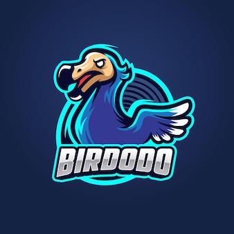 Modello di logo per l'esportazione di uccelli dodo do