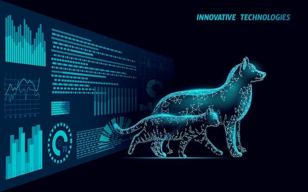 Cane e gatto sagoma smartphone cure veterinarie cure sanitarie clinica online medico veterinario centro analisi logo mobile app modello medicina vector illustration