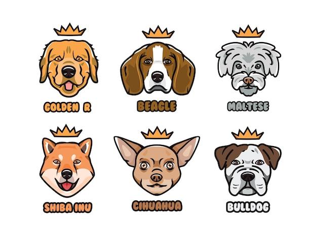 Raccolta di vettore di illustrazione di cane