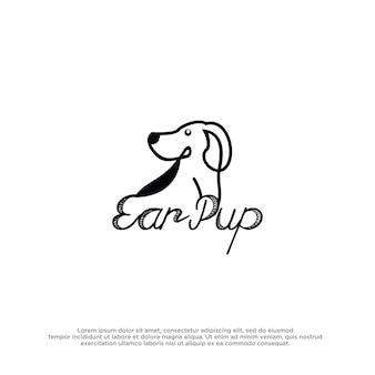 Modello di design ispirato al logo del cane