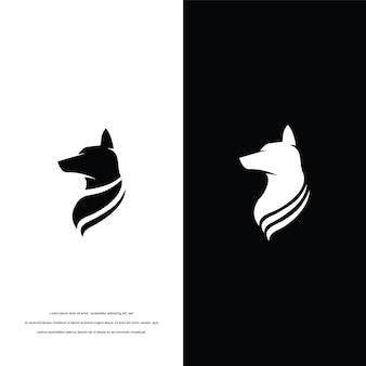 Disegno di ispirazione del logo del cane