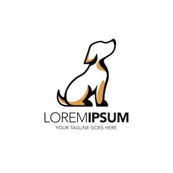 Modello di logo del cane per negozio di animali.
