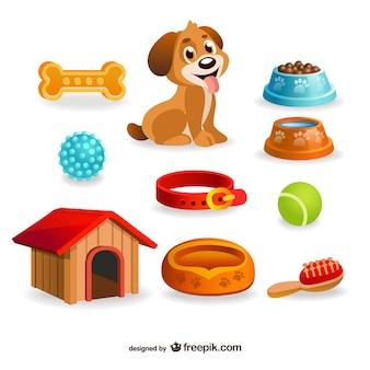 Cane elementi di design animale domestico Vettore Premium