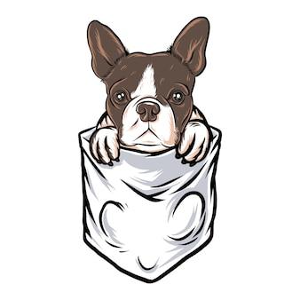 Tasca del cane divertente