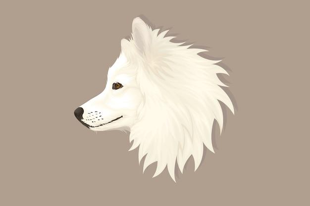 Disegno a mano in stile realistico del cane