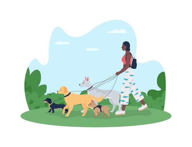 Poster di banner web 2d a piedi cane