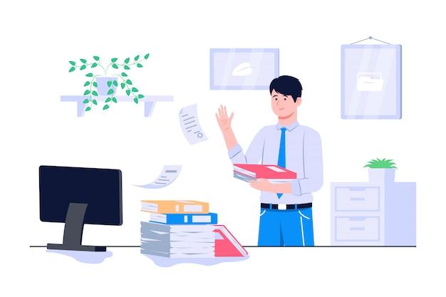 Illustrazione di concetto di dokuments