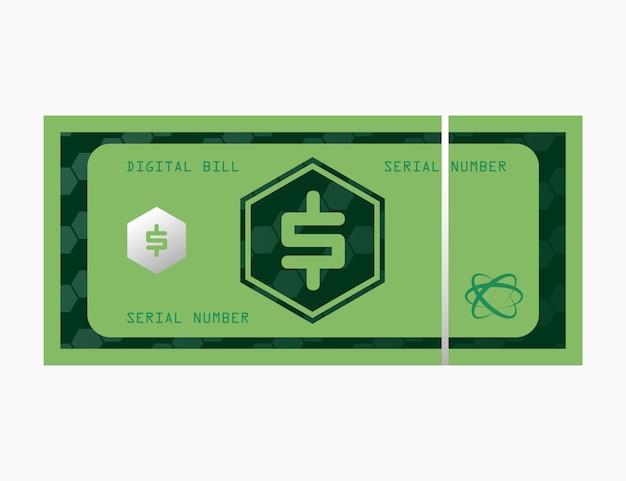 Fattura delle banconote dei soldi digitali del dollaro