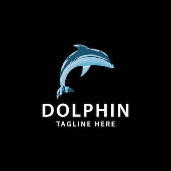 Icona grafica delfino segno del delfino isolato su sfondo bianco salto del delfino come simbolo della vita marina