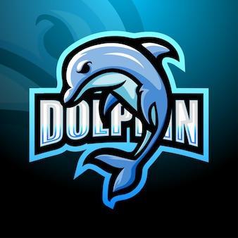 Disegno del logo mascotte delfino