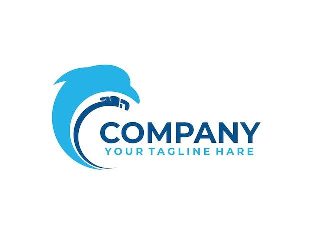 Logo dell'impianto idraulico di riparazione del delfino