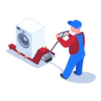Illustrazione di consegna degli elettrodomestici