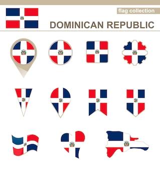 Collezione di bandiere della repubblica dominicana, 12 versioni