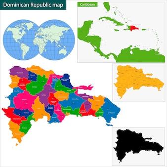 Mappa della repubblica dominicana